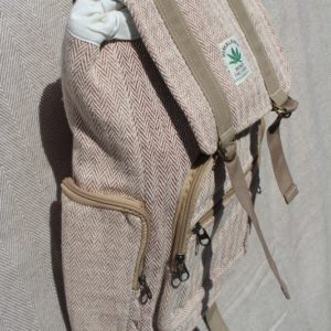 Hemp backpack light pink