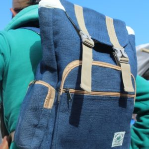 Hemp backpack blue