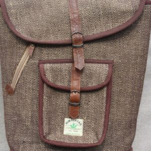 Rustic hemp bag white/brown