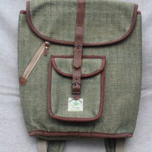 Rustic hemp bag green/brown