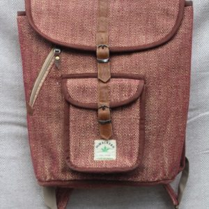 Rustic hemp bag pink/brown